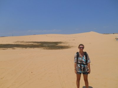 White Dunes in the background