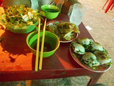 Sampling street food in Ninh Chu