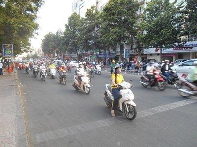 Millions of motorbikes everywhere