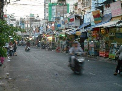 Saigon, side street full of small shops