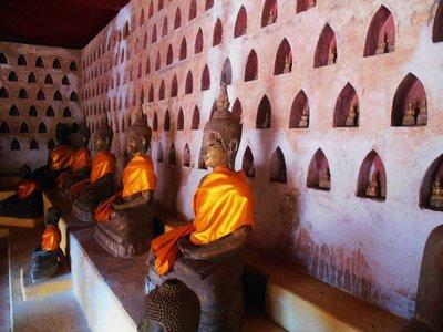 Thousand of Buddhas housed at Wat Si Saket