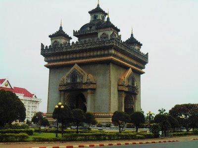 Patuxai monument, Laotian idea of an arch of triumph.