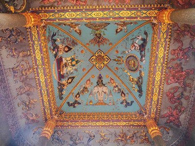 Arch ceiling of the Patuxai monument