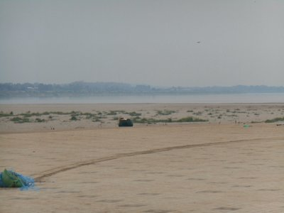 Mekhong river beach, Laotian side