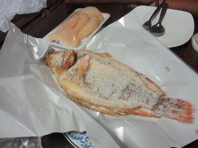 karp grilowany w soli (grilled carp in salt)