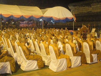 New Monks are ordained in Buddha's day