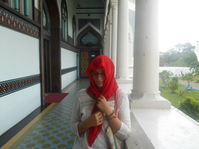 Dress code was strict to go inside the mosque
