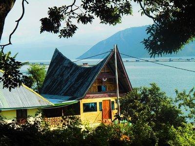 Our corner in Lake Toba