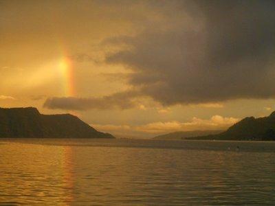 Sunset frim the Boat