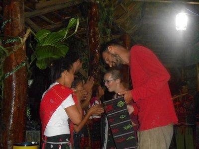 Dancing some batak music