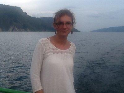 Posing in the boat