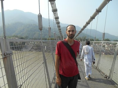 Mythical bridge in Rishikesh