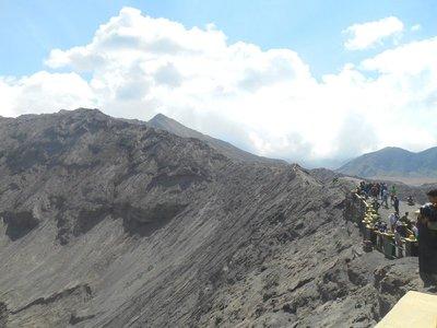 Bromo, rim of the volcano