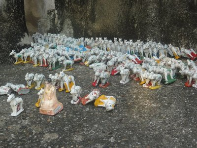 Offerings on the temple