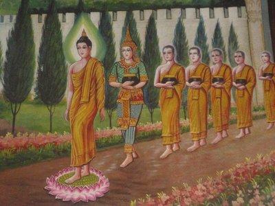 Murals whit the life of Buddha