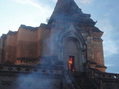 Buddha's day celebration, ancient temple
