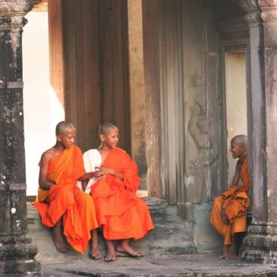 Monks at temples