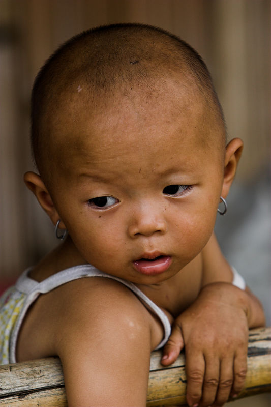 Small child in Laos