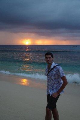 Coucher de soleil sur l'île de Waya