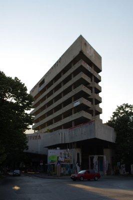 Immeuble de la banque Slovène à Mostar ayant servi de base pour les snipers