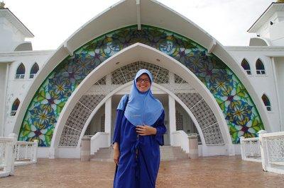 Mosquée sur la mer à Malacca