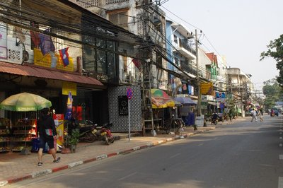 Rue typique à Vientiane