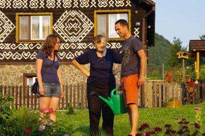 Rencontre avec une habitante de Čičmany