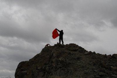 Kyrgyz flag in Ala Kul