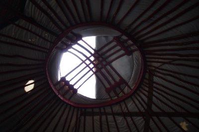 Le plafond de la yourte, et aussi l'emblème sur le drapeau kirghize !