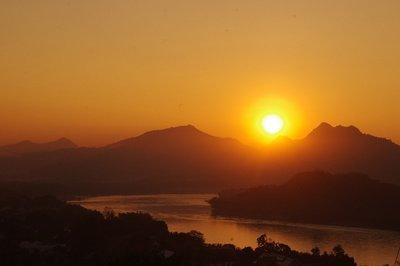 Vat Phu Si au coucher du soleil