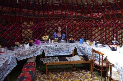 Sous la Yourte à Tash Rabat