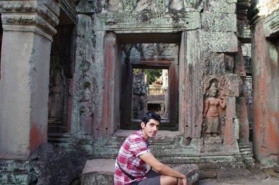 Temple Preah Kahn à Angkor au Cambodge