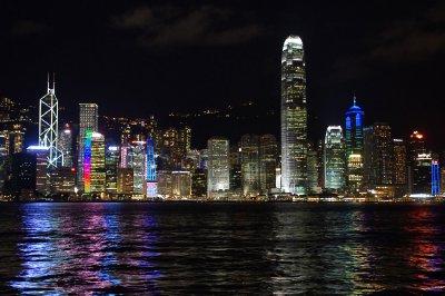 Vue sur l'île de Hong Kong