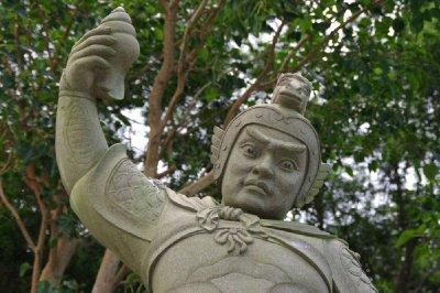 Statue à proximité du Bouddha de Lantau