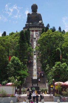 Le grand Bouddha de l'île de Lantau
