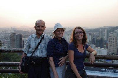En chemin pour la N Seoul Tower