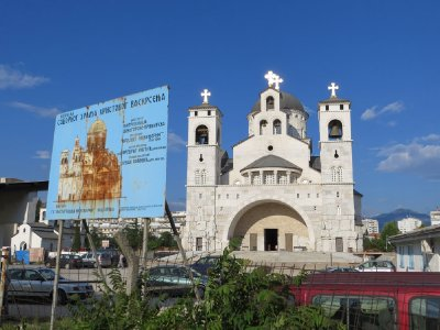 Eglise orthodoxe en construction