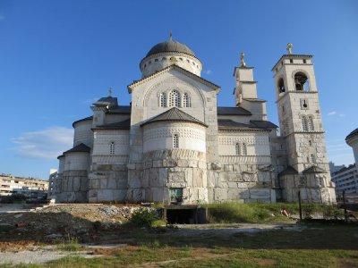 Eglise orthodoxe en construction