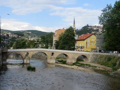 Le pont latin, où François Ferdinand a été assassiné