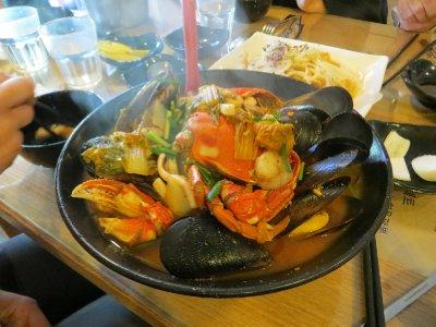 Plat coréen fruits de mer