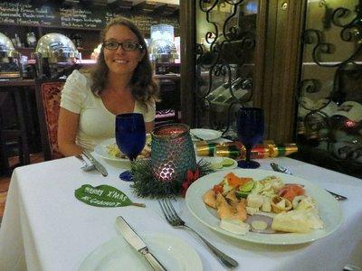Repas du réveillon de Noël à Malacca
