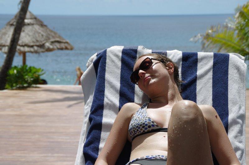 Bain de soleil à Waya