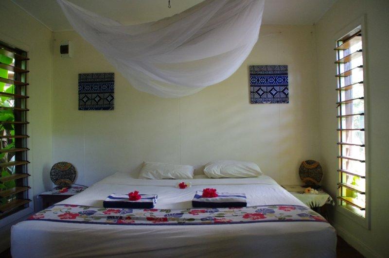 Notre chambre à l'Octopus Resort Hotel sur l'île de Waya
