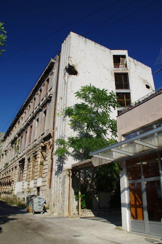 Immeuble en ruine à Mostar
