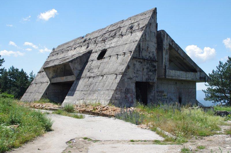 Ancien hôtel communiste autour de Sarajevo ayant servi de bunker pour les forces serbes