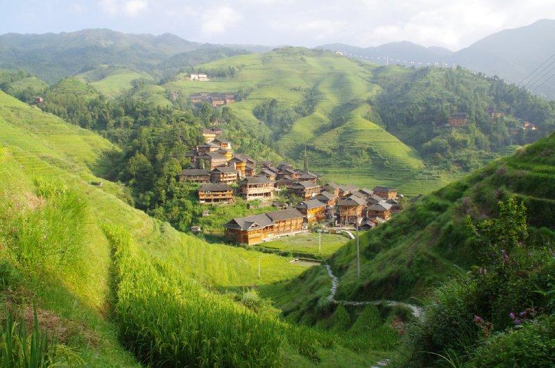 Le village de Dazhai dans les rizières de Longji