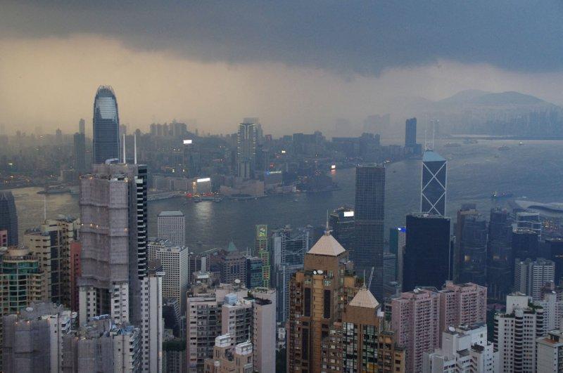 Vue sur l'île de Hong-Kong, depuis le Victoria Peak