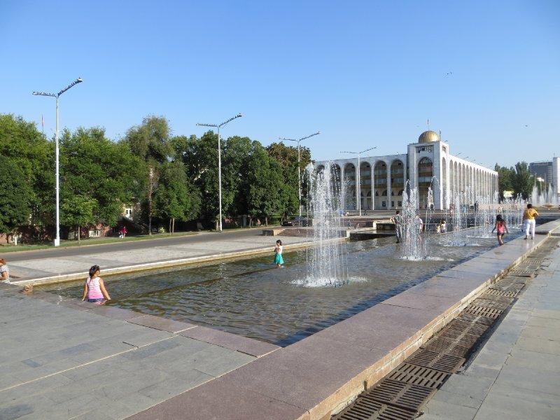 La place centrale de Bichkek