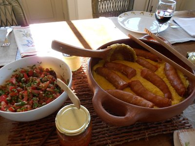 Sausages and polenta at Marcela's