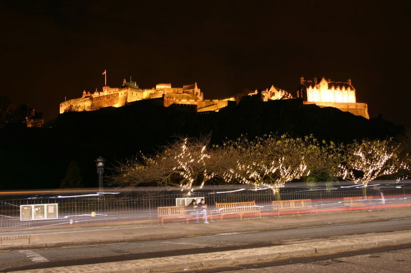 Edinburhg Casthe during X-mas